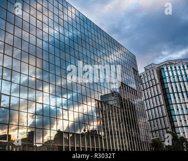 Old street buildings seen from the street in London United Kingdom - Stock Photo
