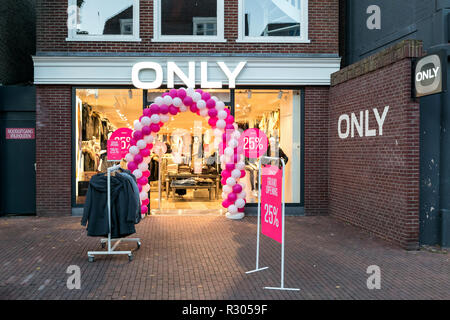 Only branch in Sneek, the Netherlands. Only is a brand of Bestseller A/S is a privately held family-owned clothing company based in Denmark. - Stock Photo
