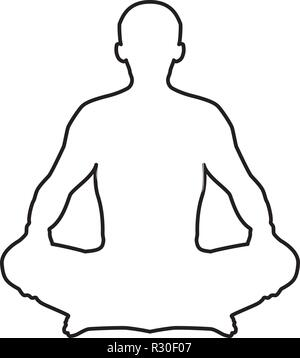 Person Sitting In Yoga Meditation Lotus Position Positive