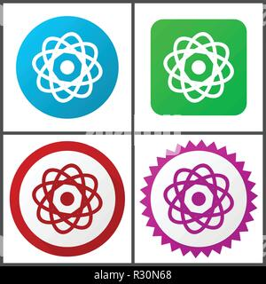 Atom vector icons set in eps 10 - Stock Photo