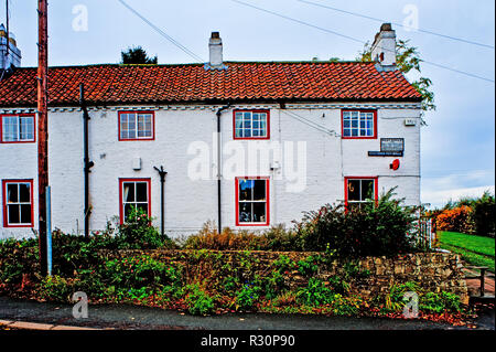 post office in Crathorne, North Yorkshire, England - Stock Photo