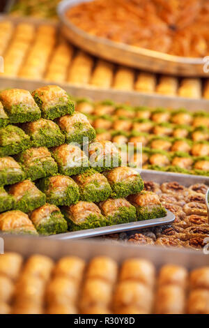 Assorted Flavors of  Turkish Baklava and other Turkish sweets, Istanbul Province. Istanbul, Turkey