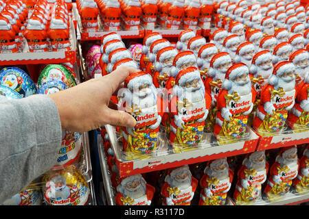 Kinder chocolate products - Stock Photo