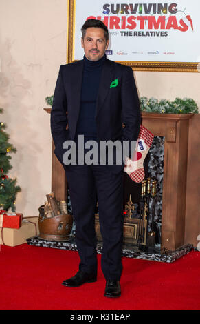London, UK. 21st Nov 2018.   attends the World Premiere of 'Surviving Christmas With The Relatives' at Vue West End on November 21, 2018 in London, England. Credit: Gary Mitchell, GMP Media/Alamy Live News - Stock Photo