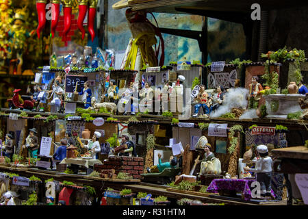 Naples, San Gregorio Armeno the professions represented in the neapolitan crib. 03/11/2018 - Stock Photo