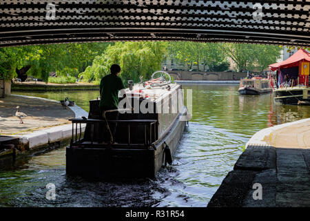 Regent's canal, Little Venice in London, United Kingdom - Stock Photo