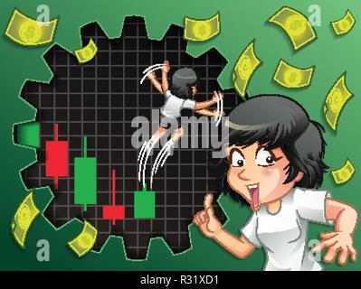 Someone desire turnaround stock for bullish. - Stock Photo