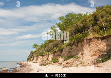 cliff on the baltic sea on the island of poel - Stock Photo