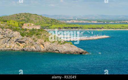Porto Ercole, in Monte Argentario, in the Tuscany region of Italy. - Stock Photo