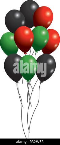 united arab emirates flag colors balloons cartoon vector illustration graphic design - Stock Photo