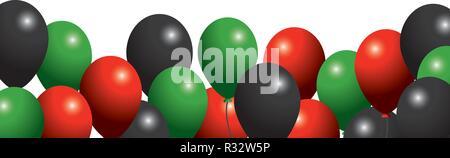 united arab emirates flag colors balloons pattern cartoon vector illustration graphic design - Stock Photo