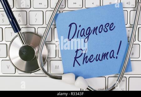 diagnosis rheumatism - Stock Photo