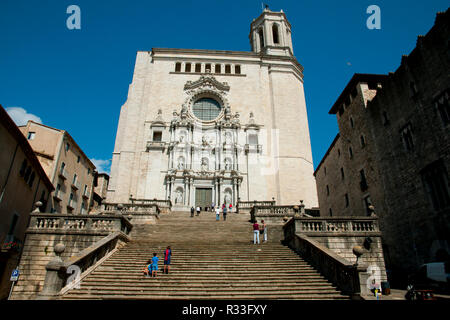 Cathedral of Saint Mary of Girona - Spain - Stock Photo