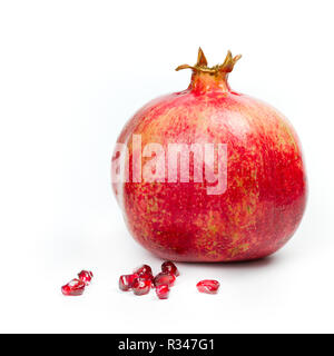 isolated pomegranate - Stock Photo