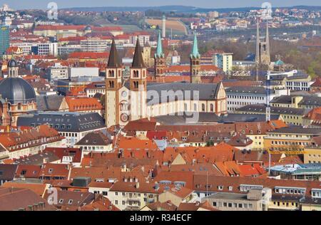 wuerzburg cathedral st. kilian - Stock Photo