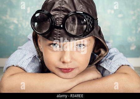 little boy dreams of holiday - Stock Photo
