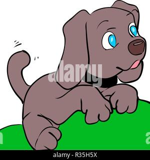 Beagle dog on white background illustration. Vector - Stock Photo