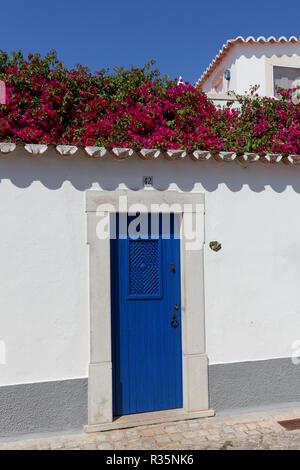 wall in santa luzia,algarve - Stock Photo