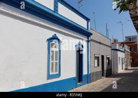 street in santa luzia,algarve - Stock Photo