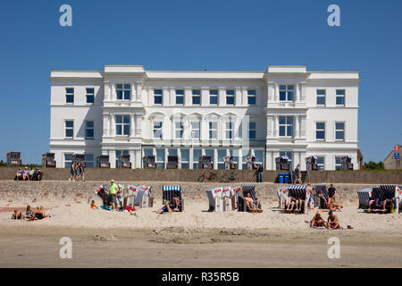 View from the seaside of Norderney,  East Frisian island, Lower saxony, Germany, Europe - Stock Photo