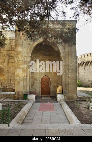 Mosque in Quadrangular castle in Mardakan. Azerbaijan - Stock Photo