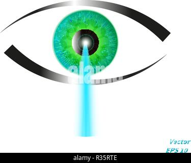 Concept of laser vision correction - Stock Photo