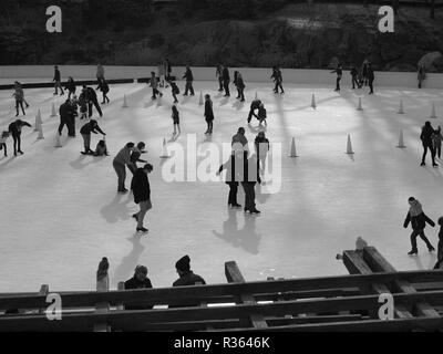Wollman Rink in Central Park, New York - Stock Photo