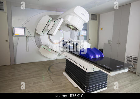 Thessaloniki, Greece - Novemper 21, 2018: Official opening of the first linear accelerator technology IMRT, IGRT, VMAT of the Department of Radiothera - Stock Photo