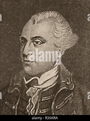 A portrait of British MP John Wilkes - 1725-1797 ( Member of Parliament for Aylesbury 1757 and English radical, journalist, wit, libertine and politician. His sister Sarah Sarah  was said to have been the inspiration for Charles Dickens' character Miss Havisham in Great Expectations. Wilkes was  a Fellow of the Royal Society and was appointed High Sheriff of Buckinghamshire, He was also   member of the Knights of St. Francis of Wycombe, also known as the Hellfire Club or the Medmenham Monks and of the Order of Oddfellows - Stock Photo