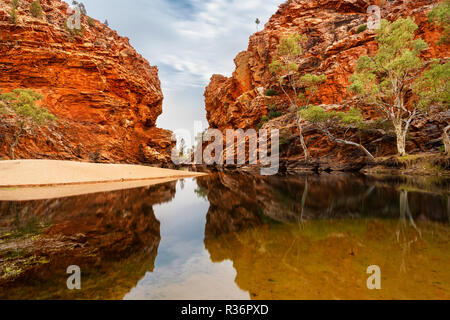 Famous Ellery Creek Big Hole in MacDonnell Ranges. - Stock Photo
