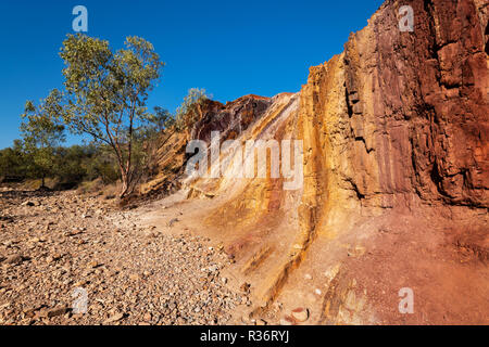 The Ochre Pits in MacDonnell Ranges. - Stock Photo