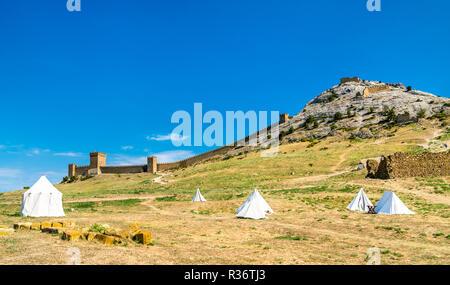 Genoese fortress in Sudak, Crimea - Stock Photo