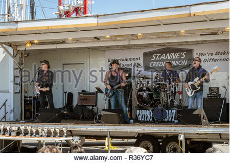 New Bedford, Massachusetts, USA - September 25, 2016: Tattoo Cowboy playing at the New Bedford Chowder Festival - Stock Photo