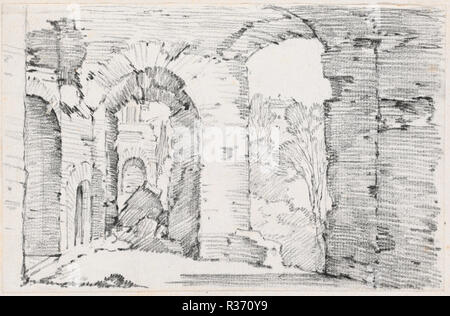 Arched Passageways Of A Ruined Building Dated 1744 1750 Dimensions Sheet 117 X 18 Cm 4 5 8 7 1 16 In Page Size 425 277 3 10