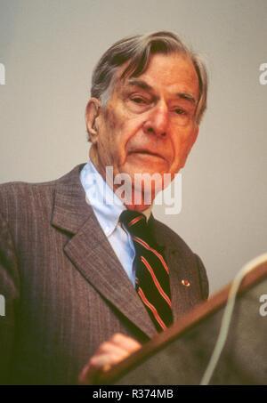 JOHN K GALBRAITH economist and Nobel prize laureate from Canada, USA - Stock Photo