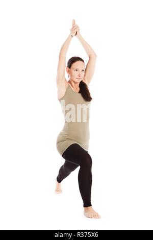 sun salutation poses in yoga against white background