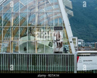 Tromsö harbour, museum Polaria, Tromsö, Norway. - Stock Photo