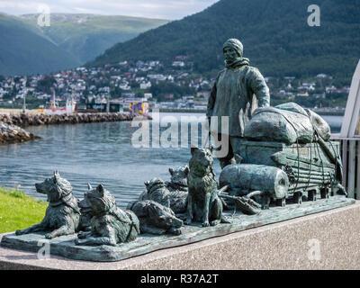 Tromsö harbour area, museum Polaria, Tromsö, Norway. - Stock Photo