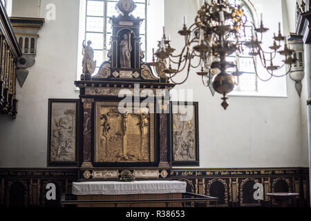 Kronborg Chapel was inaugurated in 1582. A fire at the castle in 1629 left the Chapel mostly untouched, but when the castle was repurposed in the 18th - Stock Photo