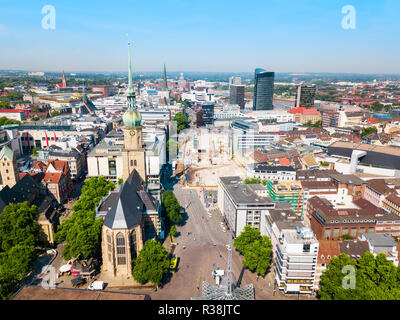 Dortmund city centre aerial panoramic view in Germany - Stock Photo