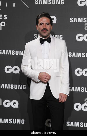 Photocall de los premios GQ Hombres del A–o 2018. (Photo: Jose Cuesta/261/Cordon Press). Miguel Carrizo   Photocall of GQ Men of Year Award 2018 in Madrid on Thursday , 22 november 2018 - Stock Photo