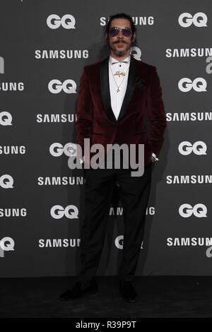 Photocall de los premios GQ Hombres del A–o 2018. (Photo: Jose Cuesta/261/Cordon Press). Oscar Jaenada   Photocall of GQ Men of Year Award 2018 in Madrid on Thursday , 22 november 2018 - Stock Photo