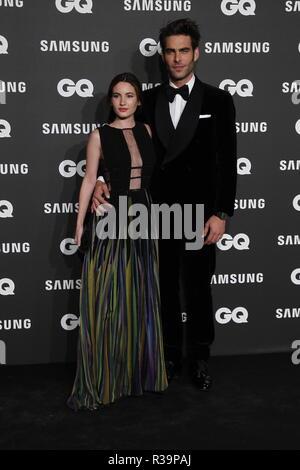 Photocall de los premios GQ Hombres del A–o 2018. (Photo: Jose Cuesta/261/Cordon Press). Jon Kortajarena   Photocall of GQ Men of Year Award 2018 in Madrid on Thursday , 22 november 2018 - Stock Photo
