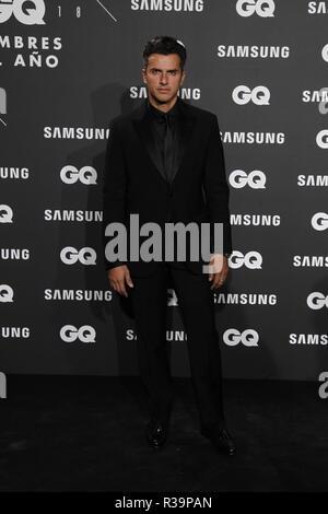 Photocall de los premios GQ Hombres del A–o 2018. (Photo: Jose Cuesta/261/Cordon Press). Orson Salazar   Photocall of GQ Men of Year Award 2018 in Madrid on Thursday , 22 november 2018 - Stock Photo