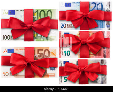 banknotes with loops - Stock Photo