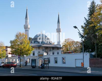 BERLIN, GERMANY - OCTOBER 21, 2018: Sehitlik Mosque In Berlin, Germany - Stock Photo