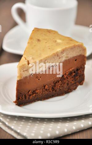 chocolate mousse cake - Stock Photo