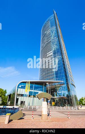 Germany Deutsche Post Dhl Headquarters Post Tower In Bonn Stock