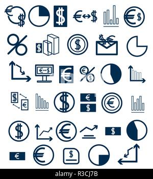 Set of icons on a financial theme. - Stock Photo