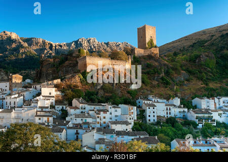 Panoramic view with the Yedra Castle (11th century). Cazorla. Jaen province. Region of Andalusia. Spain. Europe - Stock Photo